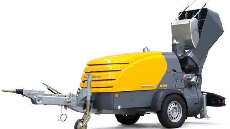 Putzmeister Şap Makinası M740 DBS (Kepçeli / Kürekli)